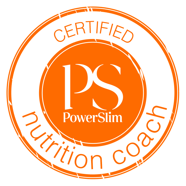Logo for Anne Bailey - text reads PowerSlim Certified Nutrition Coach. Anne is based in Salisbury UK