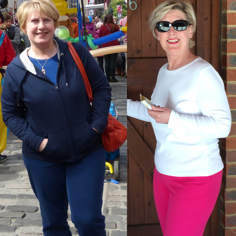 Before and after Photo of my PowerSlim to health